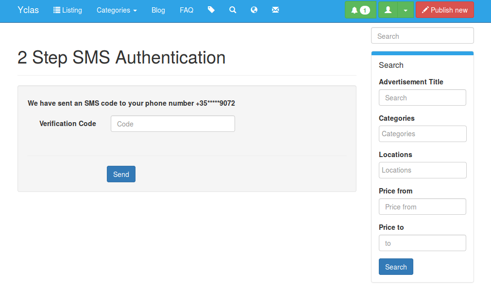 Two-step SMS Authentication